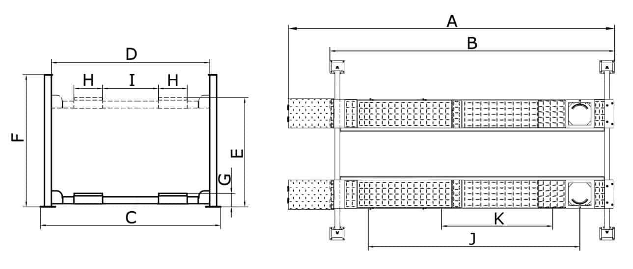 4 Post Hoist – 4 Ton CL4000 4PA