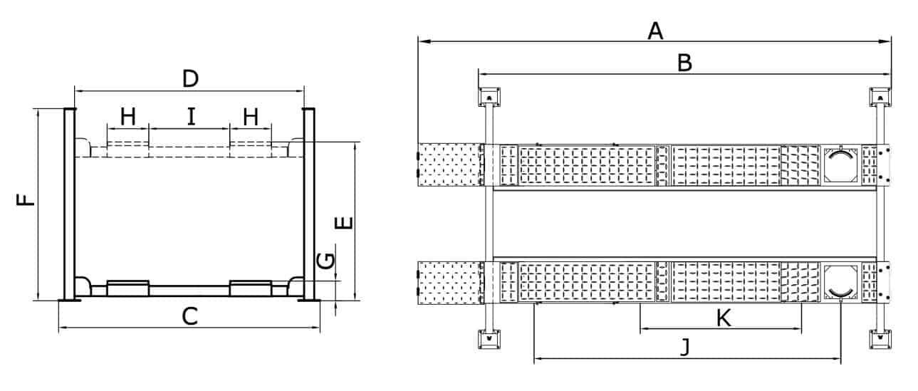 Classic CL6500 4PA 4post hoist Drawing
