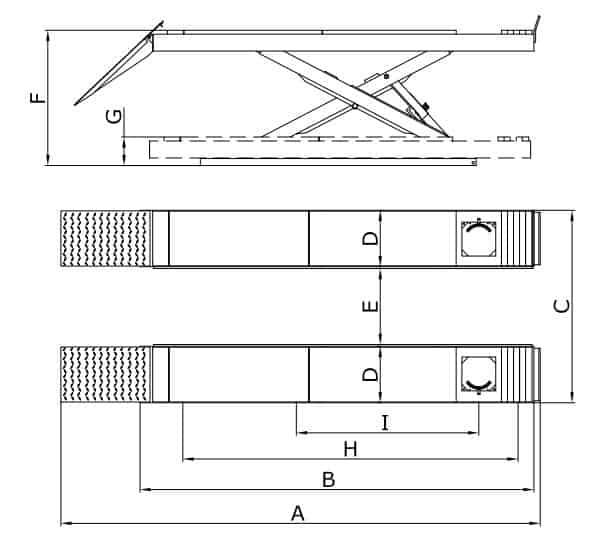 Classic Full Rise Scissor Lift 4.0T Alignment