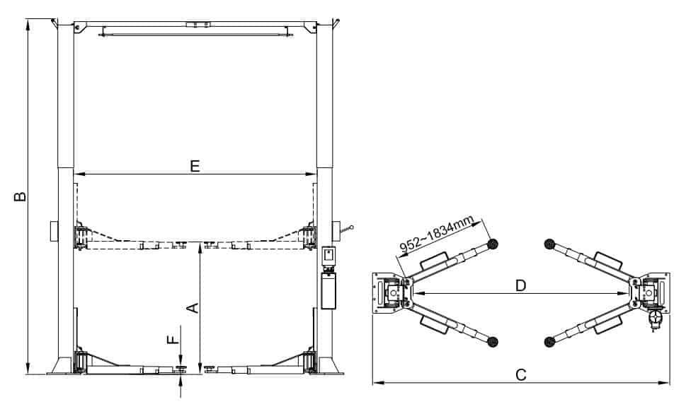 Classic Lift 2 Post CL5500C