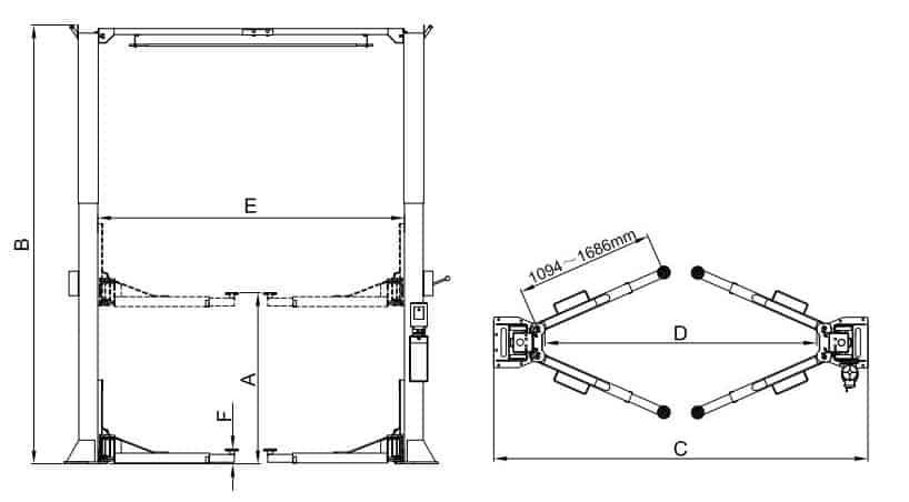 Classic Lift 2Post CL6800C