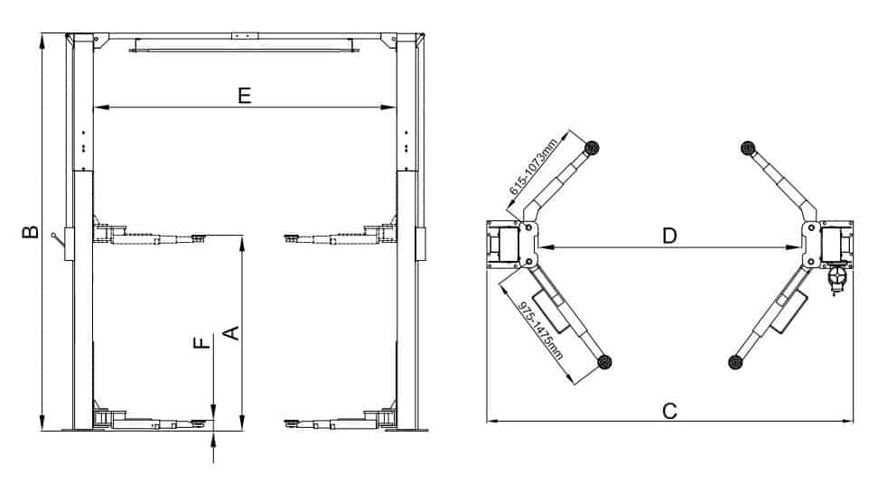 Classic Lift CL 4TSAC Drawing image