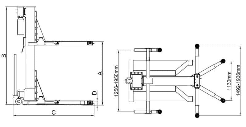 Classic Lift Single Post SML2500