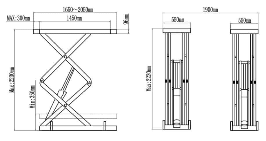 Classic SX08F Flush Mount hoist Drawing image 2