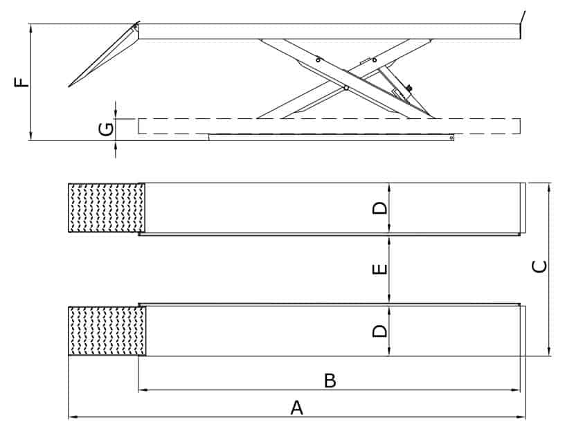 Classic Scissor Lift 4 Tonne full platform