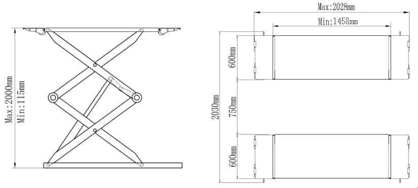 Classic Scissor Lift CLS3T 3 Tonne