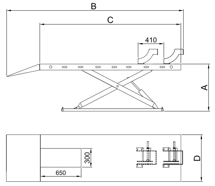 Classic MC600 Motorcycle Hoist Drawing