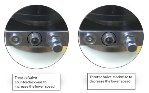 Adjusting the lowering speed