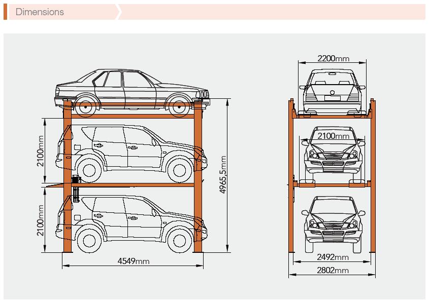 Classic 4 Post parking Lift CLP3 Car stacker