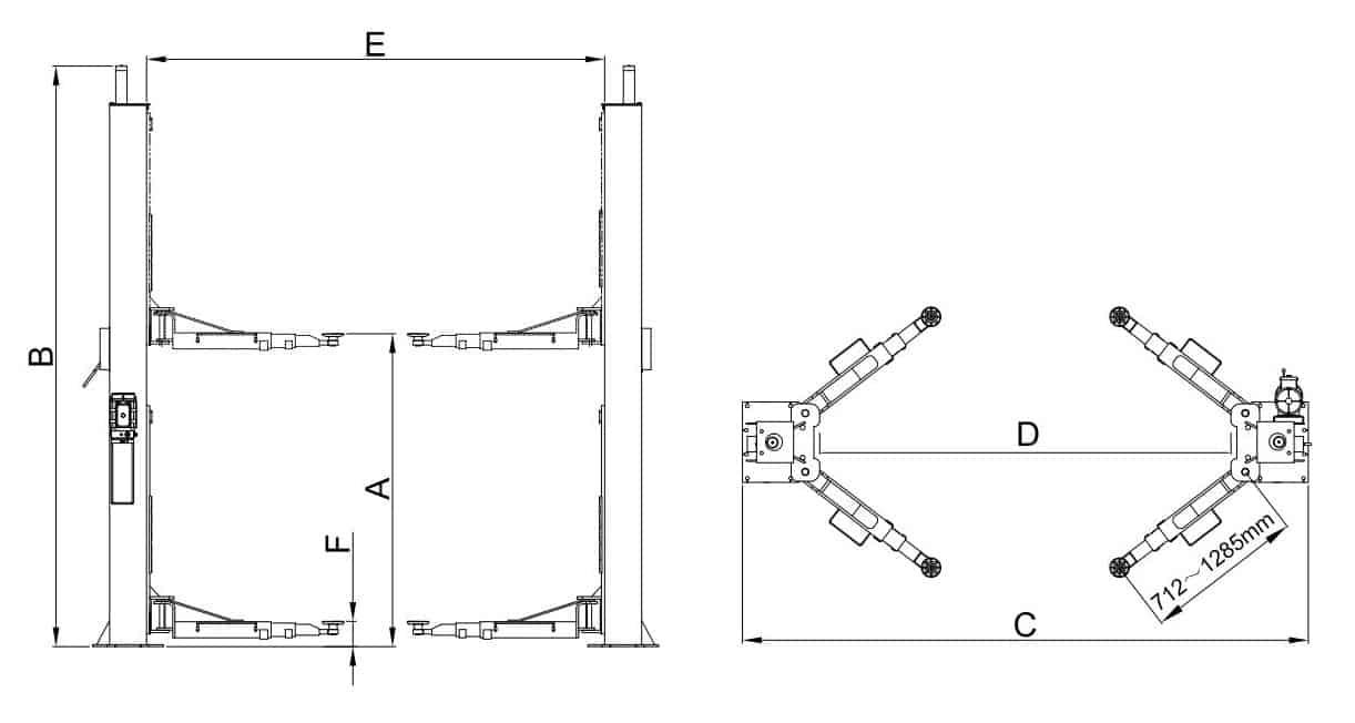 Classic Lift BP4500 2 Post Hoist