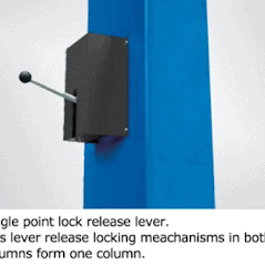 Single point safety release.