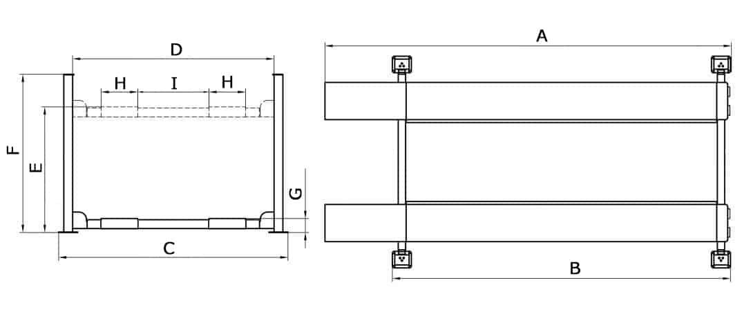 4 Post Hoist – 4 Ton CL5500 4P Drawing