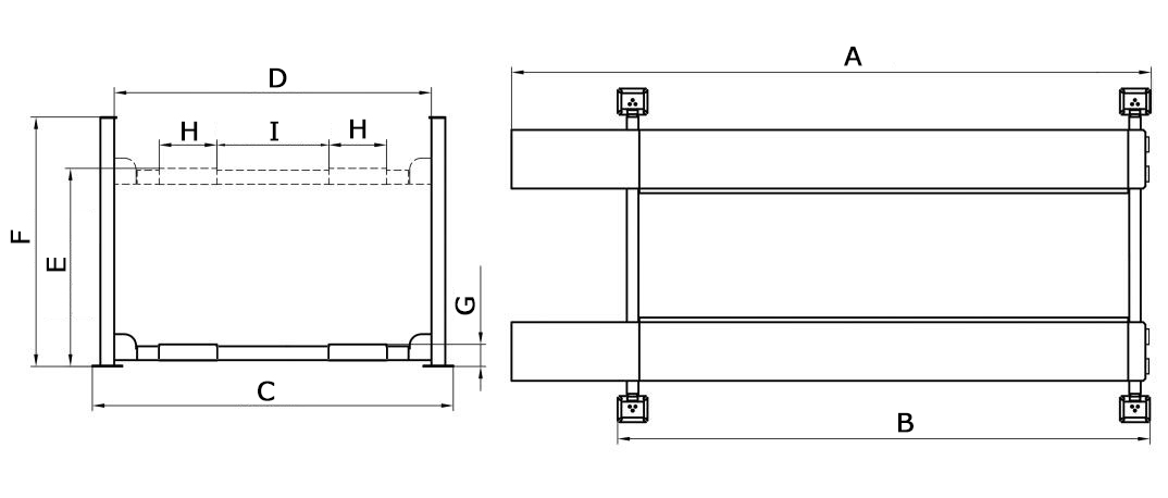 Hoist classic CL4000 4P 4Post Hoist 4ton Drawing
