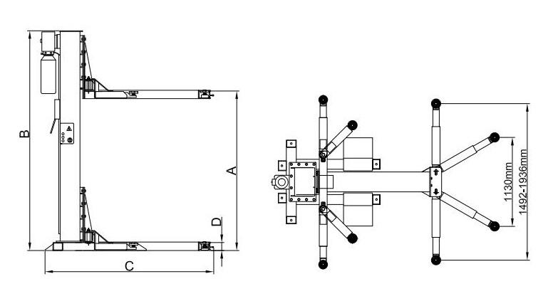 Classic CL1P FL 2.5 tonne Drawing 1